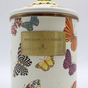 Mackenzie Childs Buttefly Garden Medium Canister